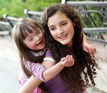 disabled child and sister